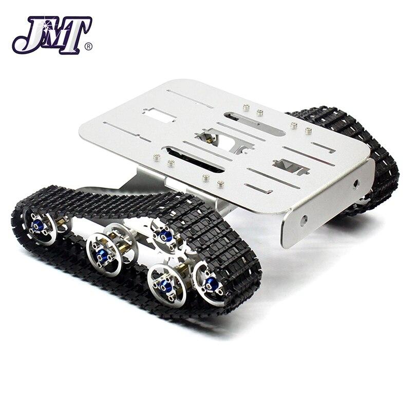 Châssis robotique de réservoir en métal JMT 4WD châssis Intelligent de chenille Intelligent pour bricolage RC pièces de rechange de voiture Robot 215x140x75mm