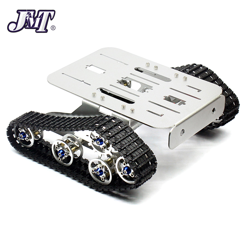 JMT 4WD Metal Tank Robotic Chassis Smart Intelligent Crawler Chassis for DIY RC Robot Car Spare Parts 215x140x75mm unassembled tank chassis enhanced version climbing obstacle metal crawler chassis for smart car track robot model diy parts