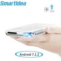 Новые Android 7.1.2 мини двухслойный поликристаллический кремний освинцованный дома Кино Smart Проектор Full HD 1080 P проектор Blutooth беспроводной адапте