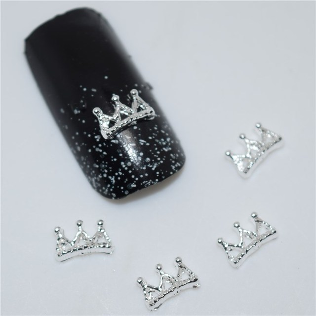 50pcs 3d Nail Art Supplies Rhinestone Decoration Jewelry Silver