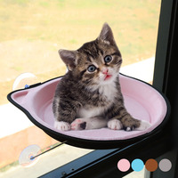 Cat Window Perch Cat Bed EVA Window Hammock Kitty Window Seat Natural Scenery for Cats Hold Up to 38 lb Blue Pink Gray Coffee