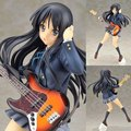 Newest Anime Stronger K-ON KyoAni K-ON Akiyama Mio 5th anniversary Ver. 1/8 PVC Music Girl Figure Collectible Model Toy 22cm