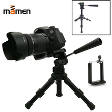 купить MAMEN Professional Mini Camera Tripod 360 Degrees Rotate Phone Holder Clip For Canon Sony Nikon DSLR Camera Tripod Stand по цене 1121.56 рублей