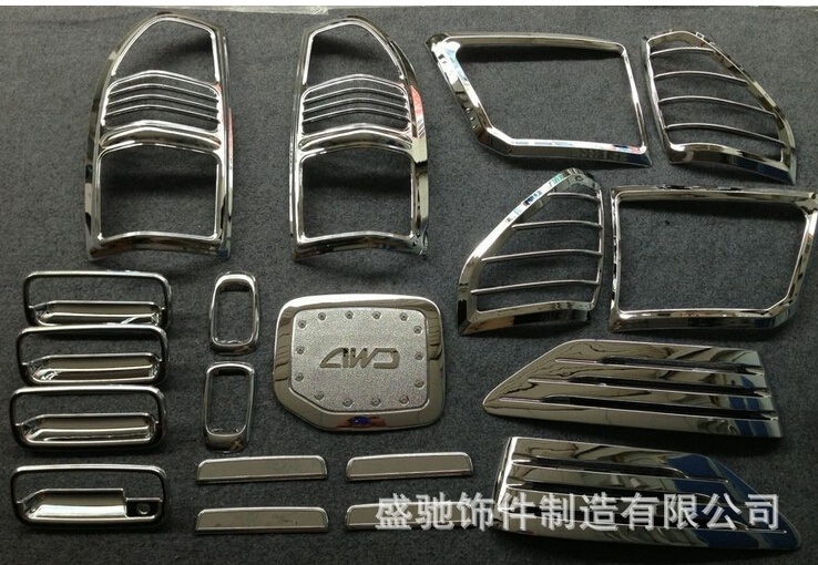 ФОТО Complete Full Set of Exterior Chrome accessories with 3M Tape fits TOYOTA PRADO FJ90  LC90 3400 2000 chrome car accessories