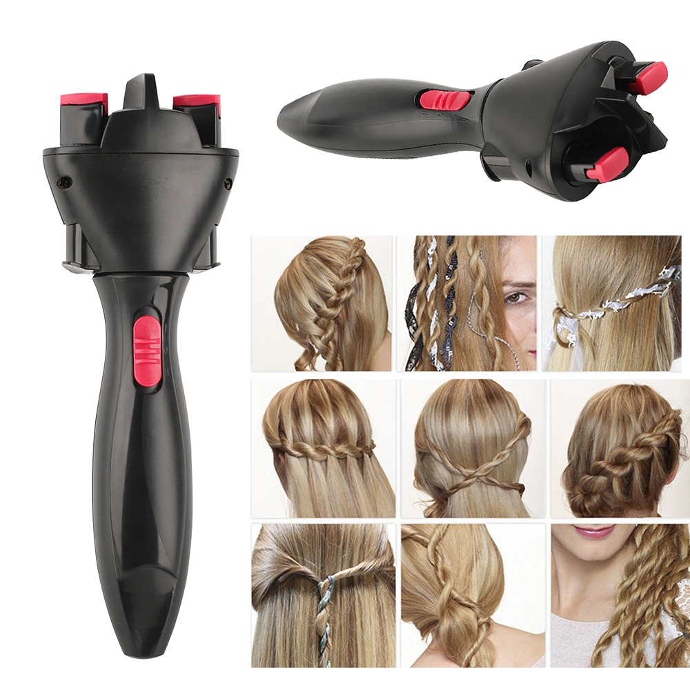 Automatic Hair Curler Hair braiding styling tool Profesional Hair Curling Fast Styling Knotter Smart Electric Braid Machine DIY