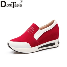 DoraTasia large size 31-42 mixed colors vulcanize shoes women casual slip on comfortable light bottom woman Sneaker shoes