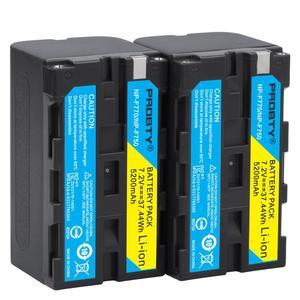 Image 2 - עבור sony NP F770 NP F750 NP F770 סוללה עבור sony CCD RV100 CCD RV200 SC5 TR940 TR917 מצלמה CN 216 CN 304 YN300 VL600 LED וידאו