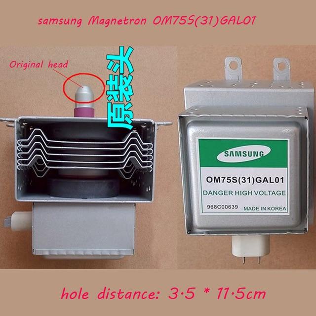 เตาอบไมโครเวฟชิ้นส่วนเตาอบไมโครเวฟ samsung Magnetron OM75S (31) GAL01 Refurbished Magnetron จัดส่งฟรีคุณภาพสูง