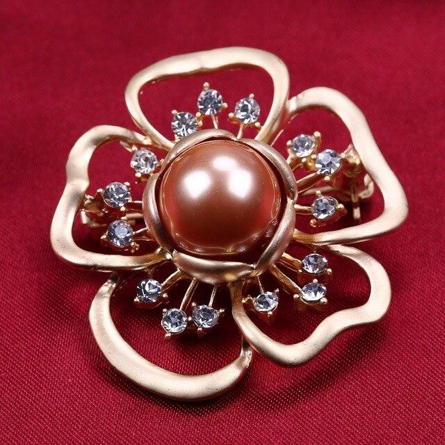 Золото сс брошь контактный горный хрусталь брошь в форме цветка для вашей матери