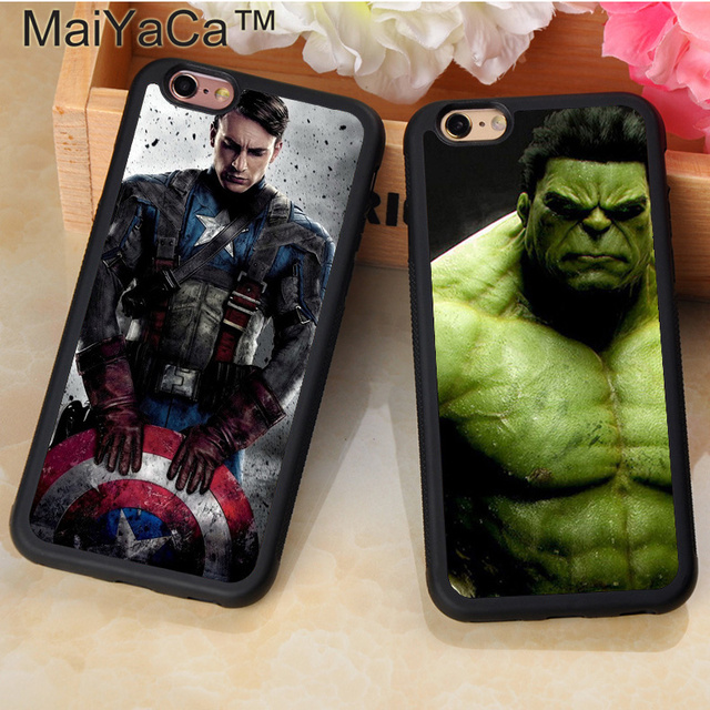 Marvel Comic Superhero Hulk Captain America Mobile Phone Cases For iPhone