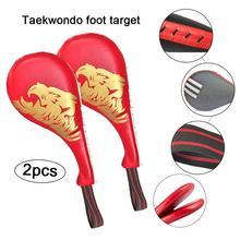 2 шт тхэквондо кик-пад тхэквондо мишень для ног взрослый ребенок Санда ручная цель для Тхэквондо боевые искусства Практическая цель для ног