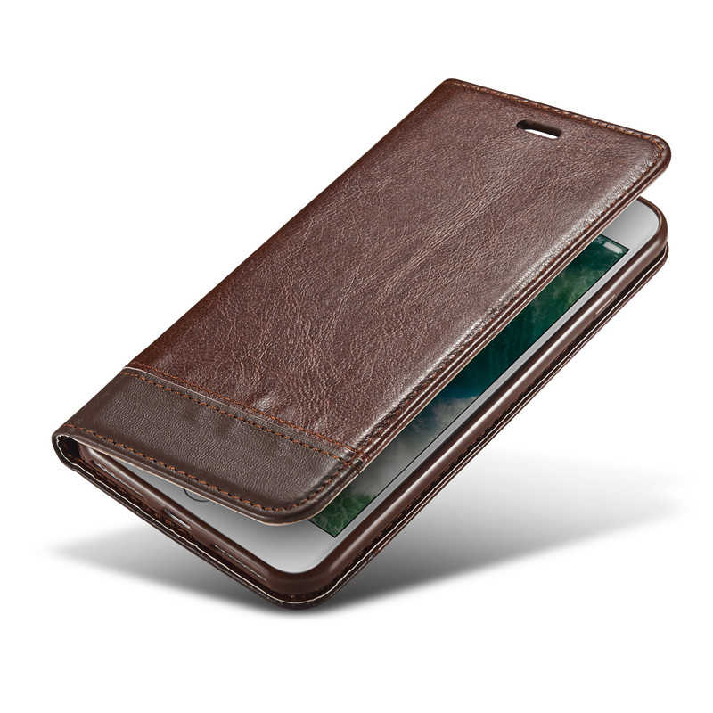 Untuk iphone 6 6 s 7 ditambah 5 5 s case mewah magnetic dompet kulit - Aksesori dan suku cadang ponsel - Foto 3