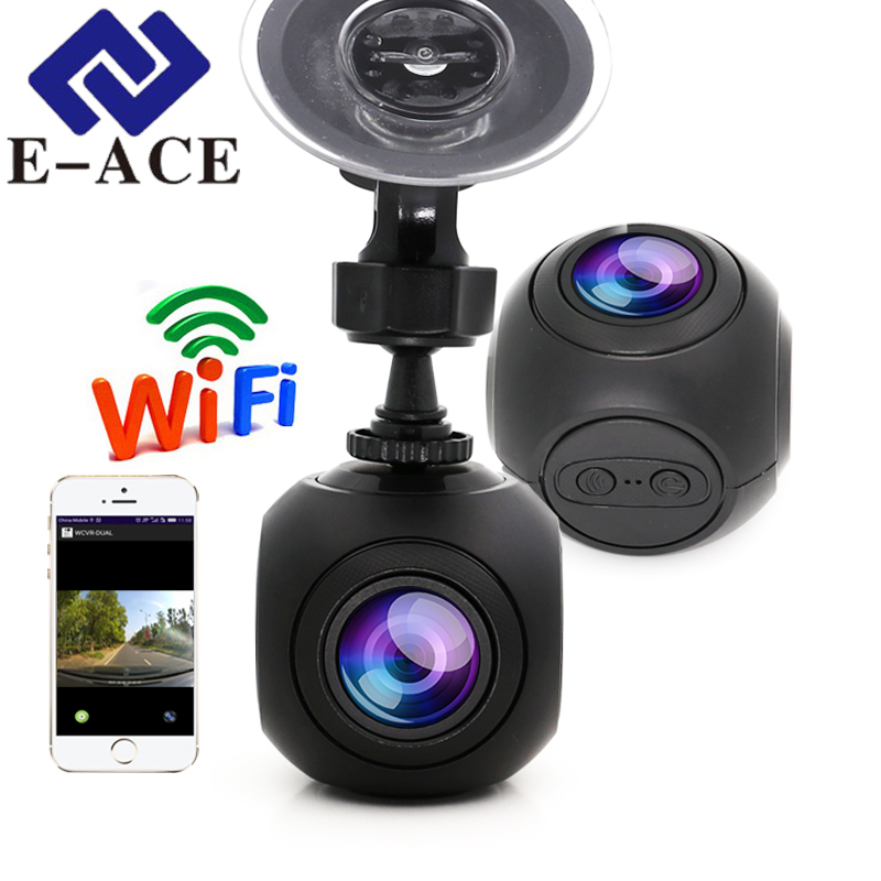 E-ACE Hidde Mini Wifi Car DVR Full HD 1080P Car Dash Camera Video Registrator Auto Camcorder Dashcam Digital Video Recorder e ace car dvr original novatek 96223 mini camera full hd 1080p digital video recorder dash camcorder auto registrator dashcam