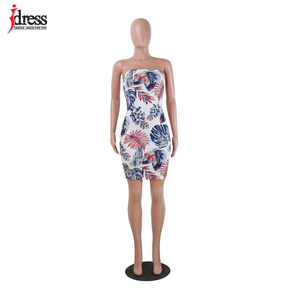 IDress Damen Kleider Robe Femme Ete 2017 Sexy Sommer Backless Enges ...