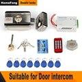 Homefong Elektronische Deurslot voor Video Intercom Video Deurtelefoon Wired Remote Unlock met Smart Card Home Security System Kit