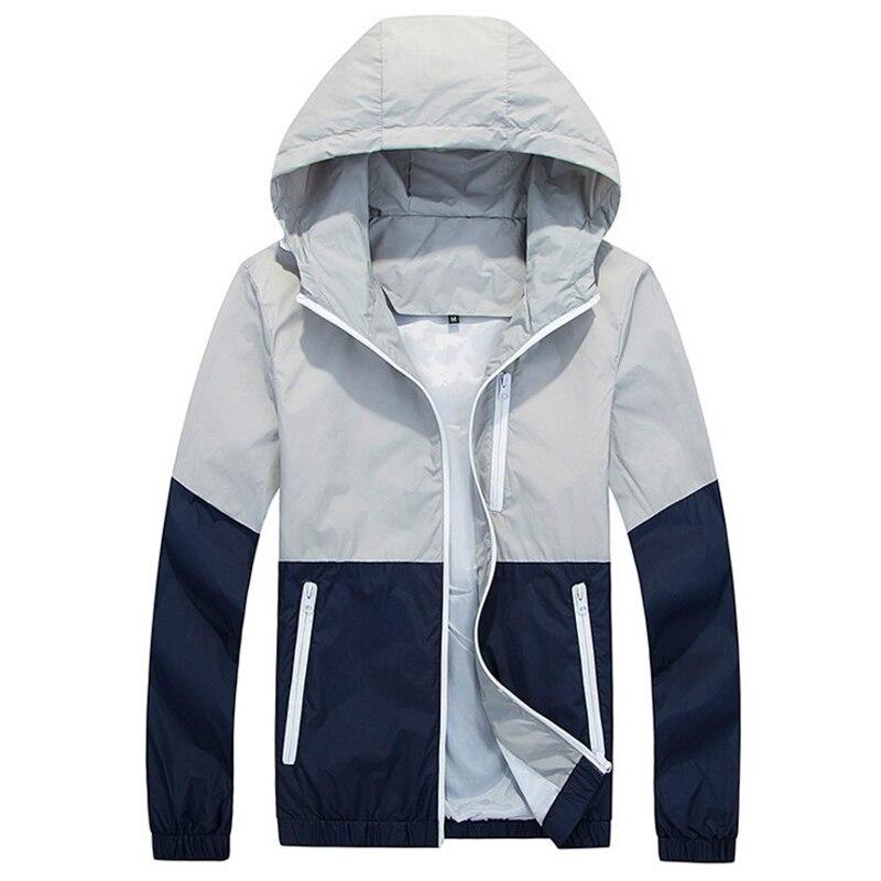 ④Marca chaqueta encapuchada ocasional cremallera fina al aire libre ...