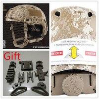EMERSON Digital Desert Helmet BJ Airsoft Adjustable ABS protective Cycling sport Helmet