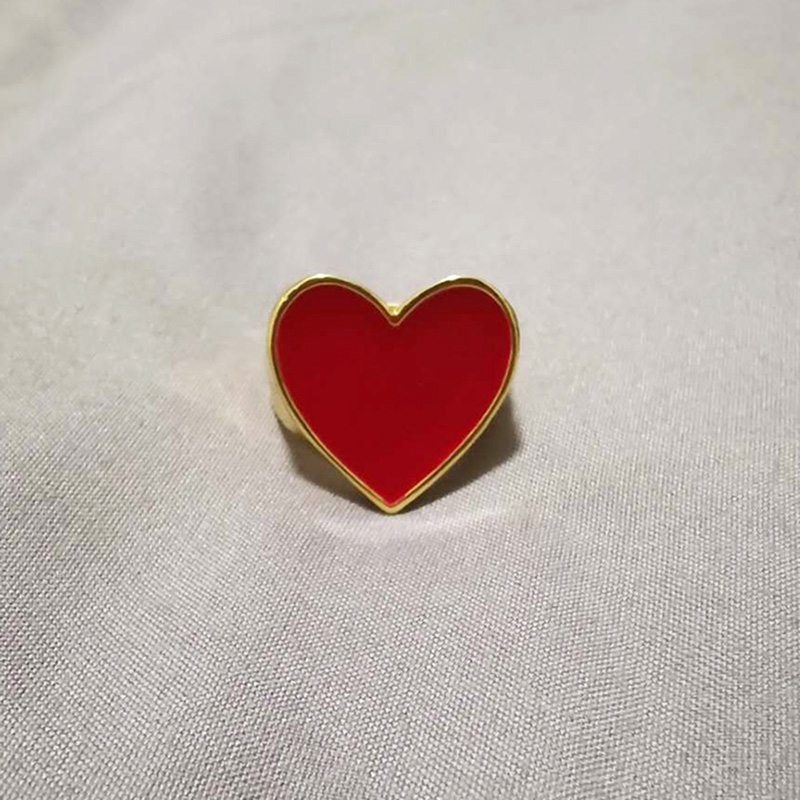 19 New Arrivals Must Have Vintage Gold Color Red Heart Rings For Women Minimalist Party Knuckle Rings Size 7 6