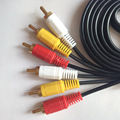 Free shippingWholesale Digital Audio Video Cable gold-plated copper Wire 3 pairs 3AV Line three on three Lotus 6 Lotus 1.5 m