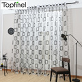 Top Finel Modern Plaid Tulle for Window Sheer Curtains Panel for Kitchen the Bedroom Living Room Curtain Fabric Window Treatment