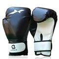 MMA Guantes de Boxeo De Cuero PU Completo Manopla Muay Thai Guantes de Entrenamiento de Boxeo
