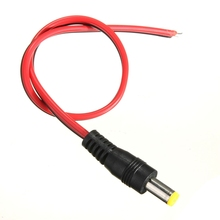 19cm DC Connector Cable Power Supply Adapter Plug Male Jack 2.1×5.5mm For CCTV Camera Power Cable High Quality