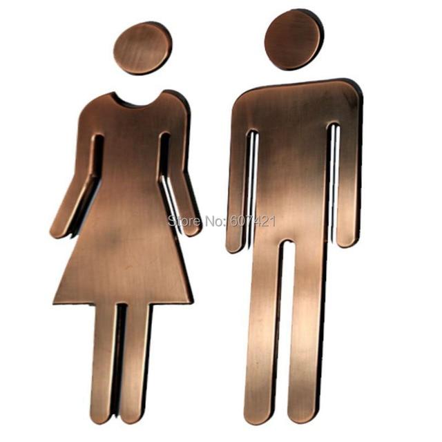 44848inch Adhesive Backed Modern Acrylic Bathroom Sign Symbol Sign Men Fascinating Bathroom Symbol