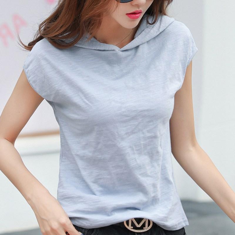 Женская футболка с капюшоном gkfnmt, белая Повседневная футболка с коротким рукавом из 100% хлопка, большие размеры, серый, черный, розовый цвета, XXXL|Футболки|   | АлиЭкспресс
