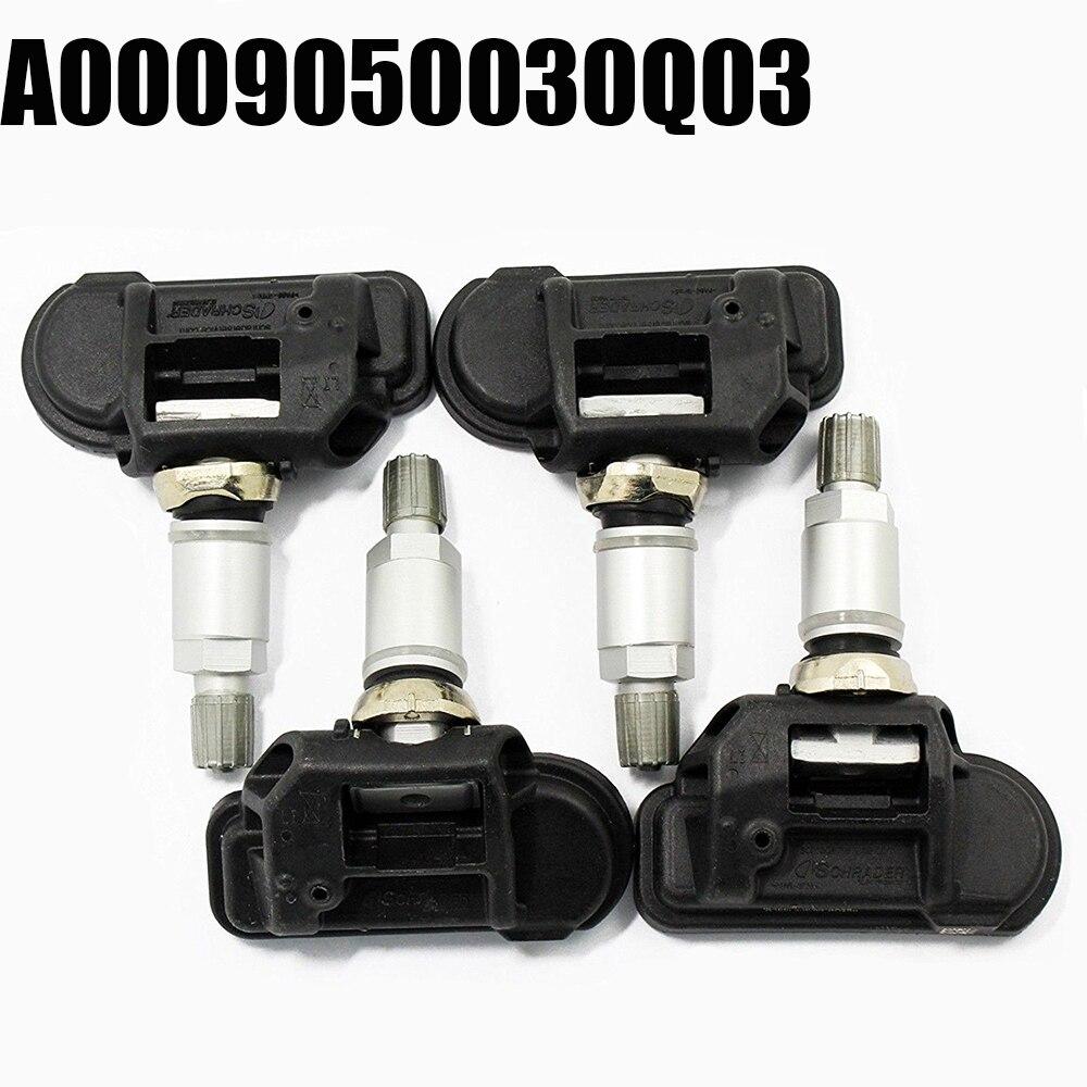 Para Mercedes Inteligente C E S CL CLA CLS G GL GLK 4 PC A0009050030Q03 Sensor de Monitor De Pressão Dos Pneus TPMS