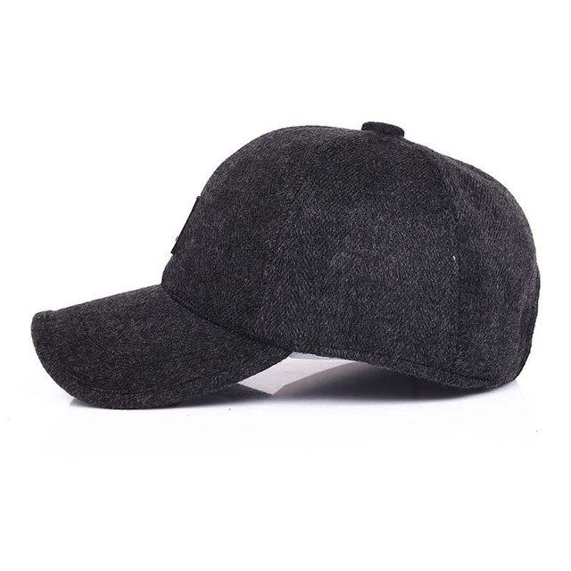 57ced82ed51 Online Shop Middle Age Dad Hat Snapback Baseball Cap Men Winter Ear ...
