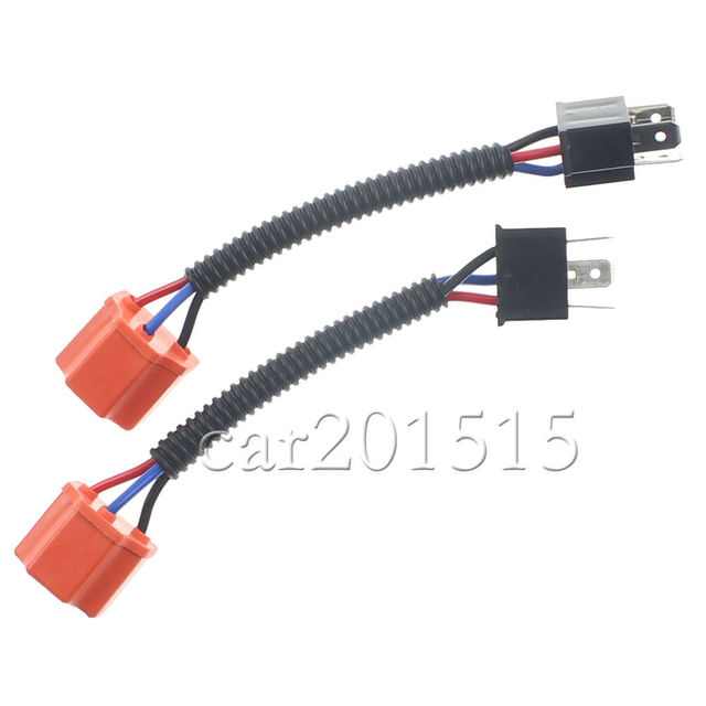 Sencart Red for Headlights Fog Lamps H4 9003 Ceramic Wire Wiring