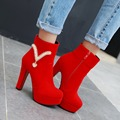 New fashion women high heel boots sexy platform boots autumn and winter shoes woman ladies black martin boots plus size 34-47