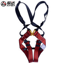 XINDA Harness Bust Baby Seat Belt Child Outdoor Rock Climbing Harness Rappelling Equipment Harness Seat Belt with Carrying Bag professional full body 5 point safety harness seat sitting bust belt rock climbing rescue fall arrest protection gear equipment
