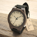 BOBO BIRD B11 Men's Wood Bamboo Wristwatch Simple Unique Design Men Top Brand Wooden Bamboo Wrist Watches