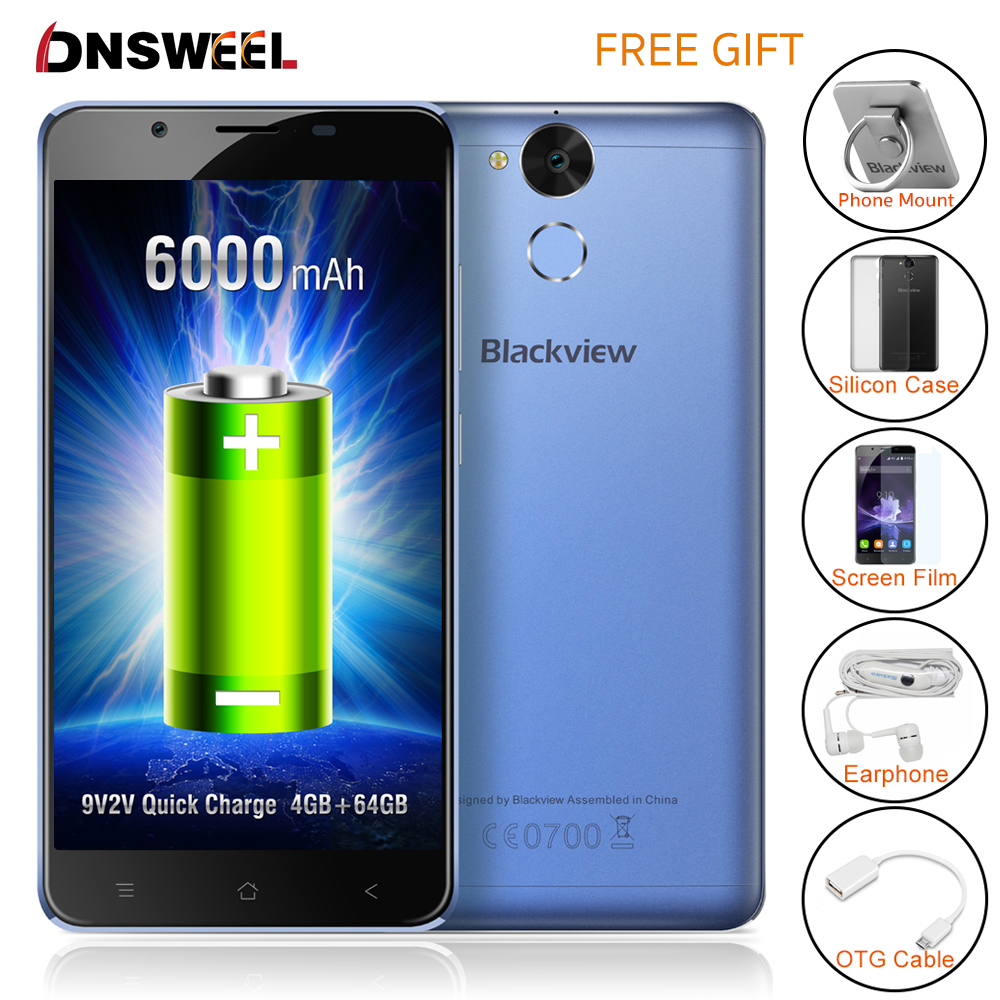 Original blackview p2 teléfono celular 4 gb ram 64 gb rom smartphone mt6750t Oct