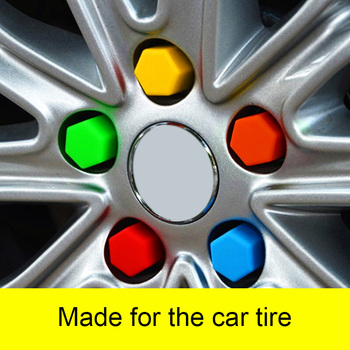 Hot 20 Pcs Car Wheel Nut Caps Auto Hub Screw Cover Rims Exterior Decor Socket Protection Dust-proof BX image