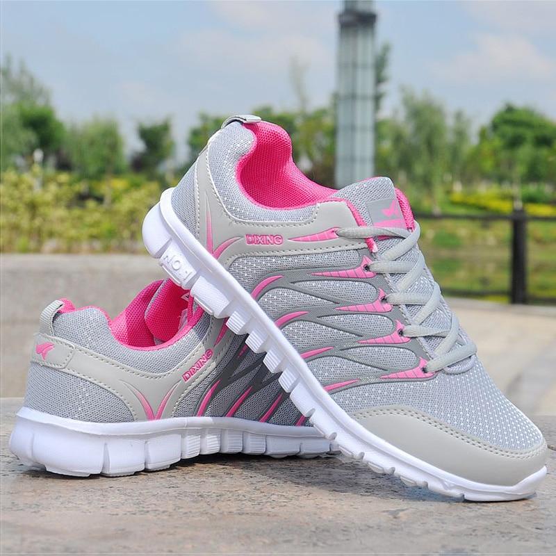 Zapatos de mujer zapatos de aire respirable zapatillas de deporte de malla mujer ligero vulcanizar Zapatos blanco cesta de mujer de primavera de las mujeres zapatos casuales zapatos de Krasovki