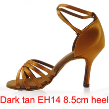 21Tyles High Quality Satin Ladies Latin Dance Shoe Women Ballroom Rumba Chacha Samba Doble Dancing Shoe Optional Heel 211