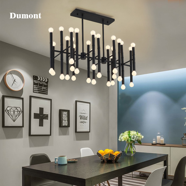 Wrought Iron Rectangular Bamboo Chandeliers Led 42 Bulbs Droplight Jonathan Adler Meurice Pendant Lamp Contemporary