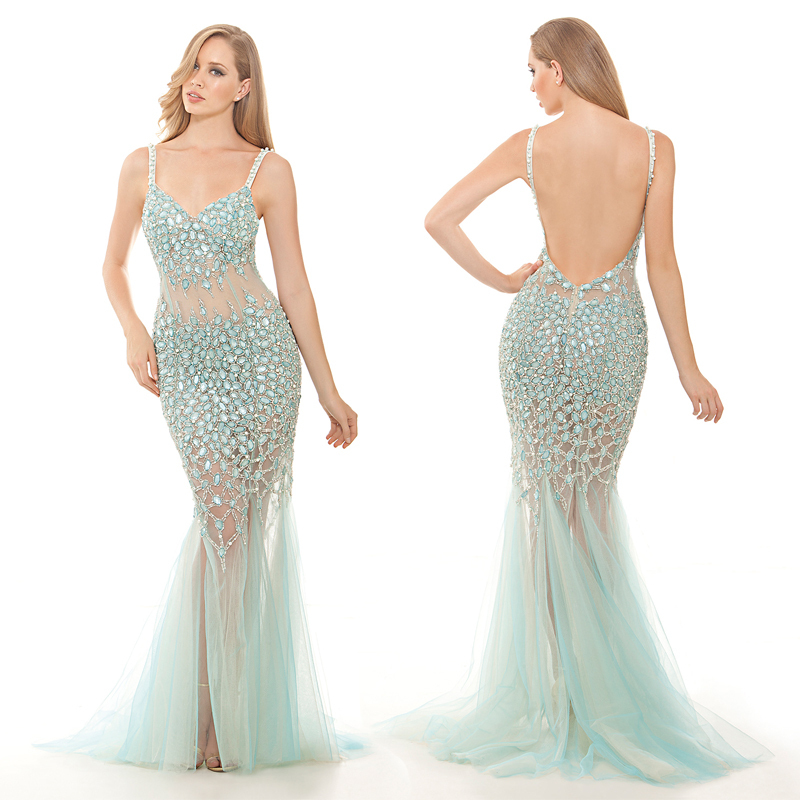 Aliexpress.com : Buy Stunning Fully Crystal Beaded Formal Dress ...