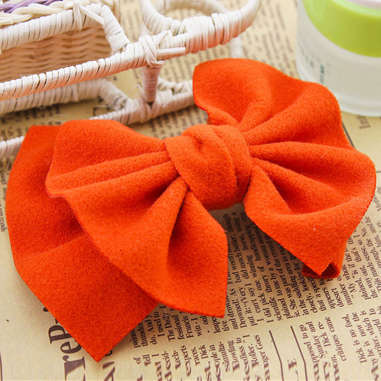edition wool double big bowknot hairpin, free home delivery han edition hair pearl four petals small clip hairpin edge clip a word free home delivery