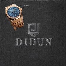 DIDUN Männer Uhren Top-marke Luxus Mechanische Automatische Uhr Rosegold Fashion Business Watch Wasserdicht Mondphase Wristwat