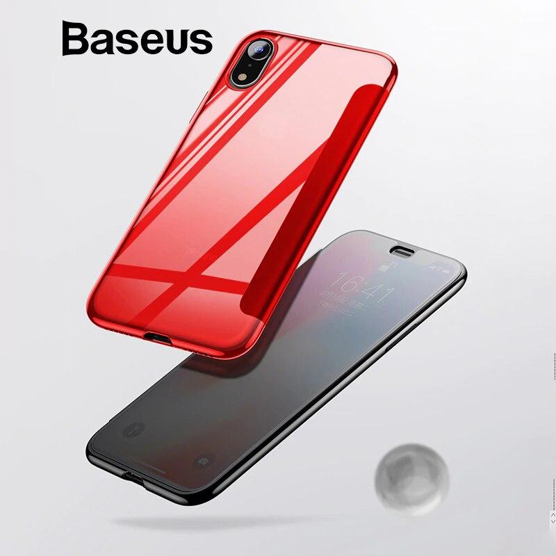 Baseus de lujo de cristal templado funda para iPhone Xs Max 2018 Chic la cobertura completa de la caja del teléfono protector para iPhone xs XR cubierta