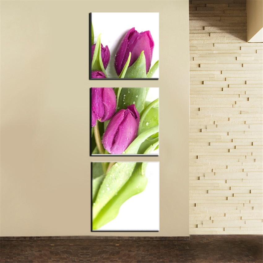 banmu wall art picture canvas photo prints on flower tulip canvas