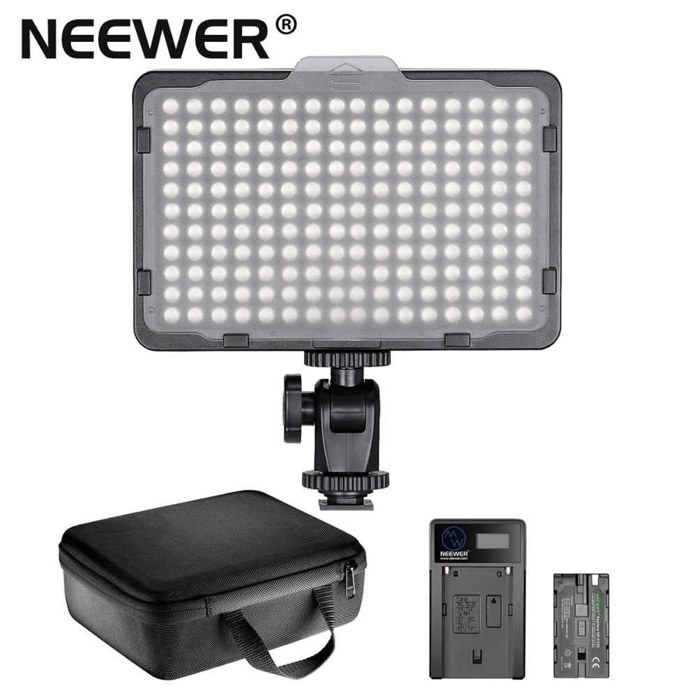 Neewer Photo Studio 176 LED 5600K Ultra Bright Dimmable on Camera Video Light w 1 4
