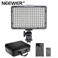 Neewer Photo Studio 176 LED 5600K Ultra Bright Dimmable on Camera Video Light w/ 1/4 Mount for Canon, Nikon, Sony, & Other DSLR