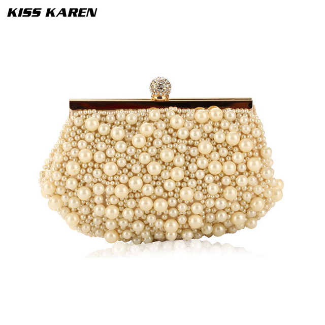 Kiss Karen Exquisite Pearl Embroidery New Fashion Women Clutches Evening Bag Women Party Clutch Bag Club Elegant Lady Minaudiere