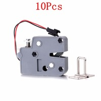 New 10Pcs HT5615 DC 12V 2A Smart Electromagnetic Lock Anti theft Electronic Locker for Door Cabinet Lock Locks 75*56*15mm