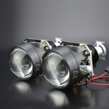 """GZTOPHID Car Styling Kit 2.5"""" H1 HID Bifocal Projector Headlight Lens for H4 H7 Socket and High / Low Beam Control Cable"""