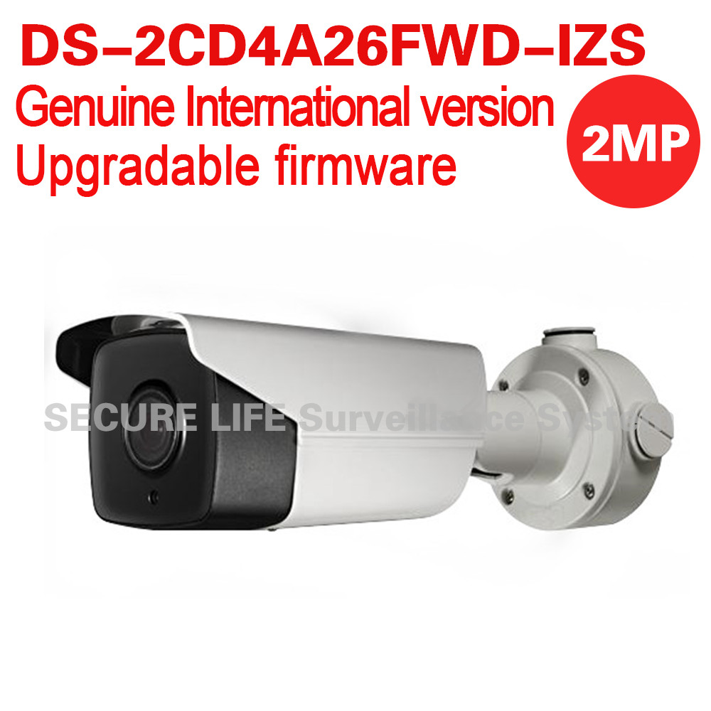 DS-2CD4A26FWD-IZS English version 2MP Low Light Smart bullet IP Camera POE LPR 50m IR, mortorized VF lens, audio hikvision ds 2de7230iw ae english version 2mp 1080p ip camera ptz camera 4 3mm 129mm 30x zoom support ezviz ip66 outdoor poe
